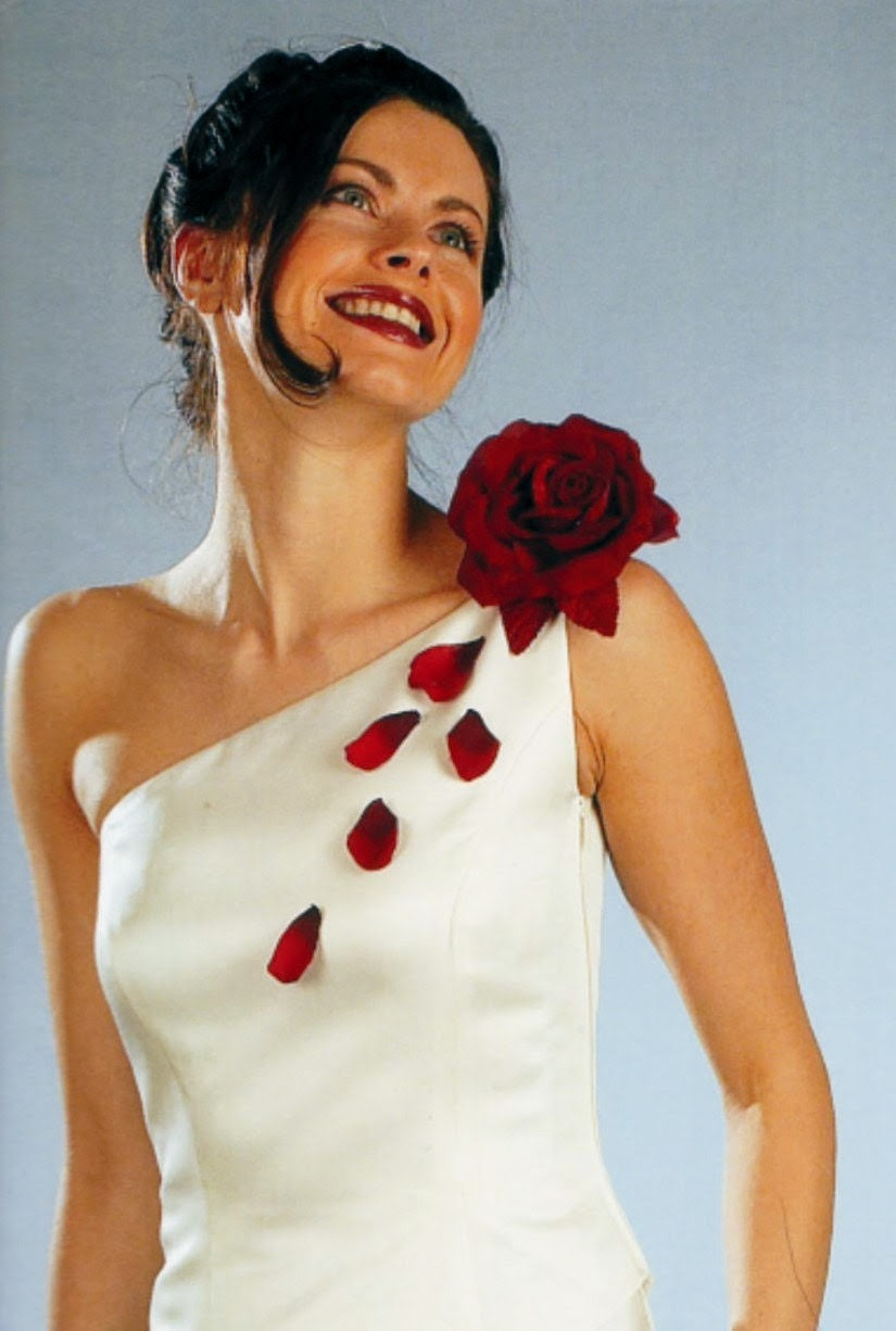 Bride Dress with Flowers