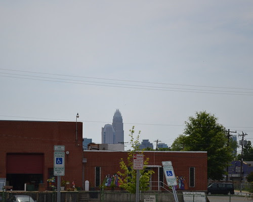 view of uptown from Amelie's