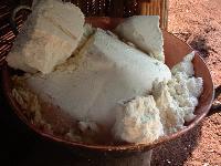 massa de mandioca seca