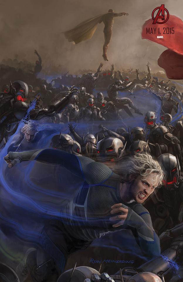 """Mercurio y La Visión en el Poster de """"Los Vengadores : La Era de Ultron"""""""