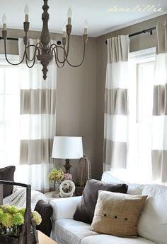 Stripe Curtains on Pinterest