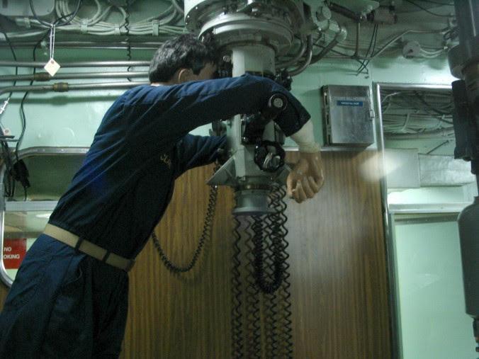 Periscope on a submarine.