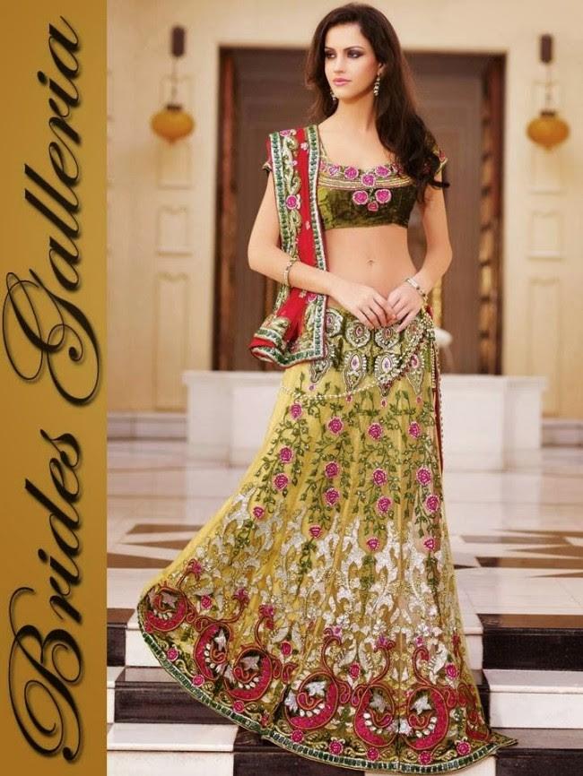 Indian-Bridal-Wedding-Lehangas-Velvet-Embroidered-Blouse-Fish-Cut-Lehenga-by-Brides-Galleria-5