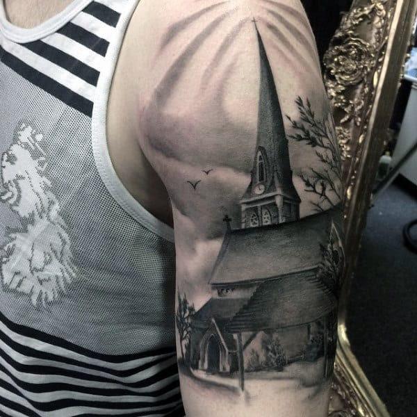 100 Black And Grey Tattoos For Men Grandeur Of Gradients