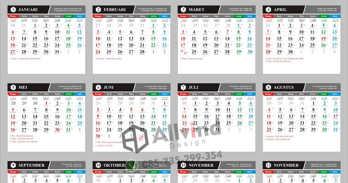 Ide 49+ Desain Kalender 2020
