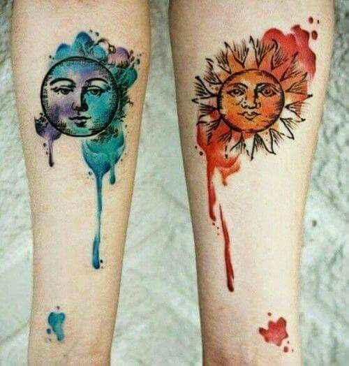 Love By The Moon Super Cute Matching Tattoo Ideas For You And Your
