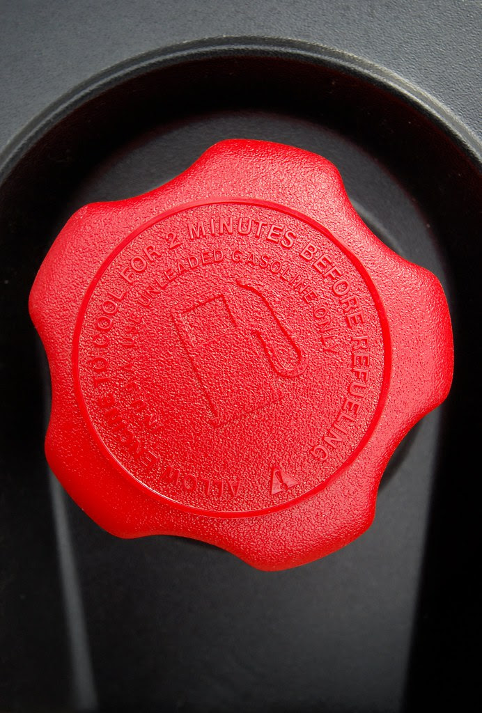 A red gas cap.