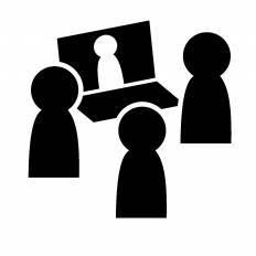 ネット会議シルエット イラストの無料ダウンロードサイトシルエットac