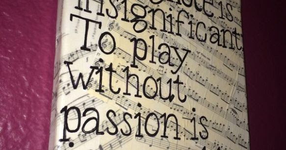 Beethoven Quote Canvas To Play A Wrong Note Is Insignificant To