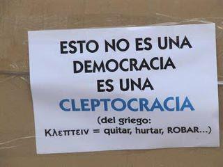 La cleptocracia imperante en España