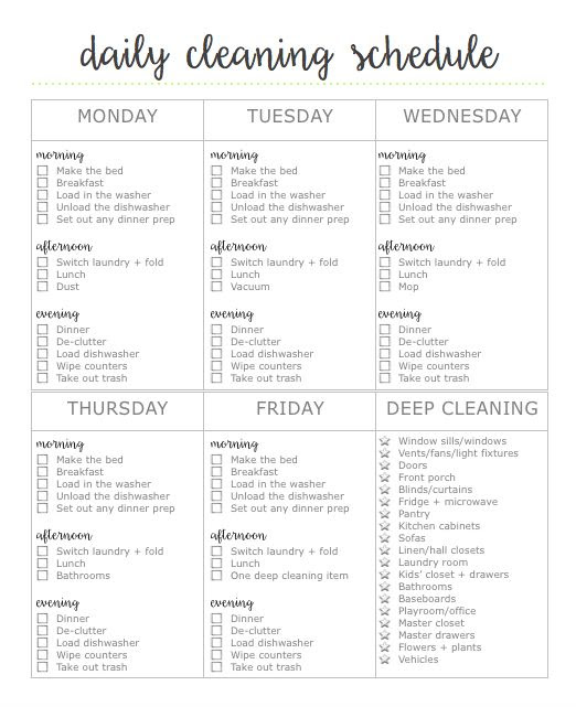 1000+ ideas about Cleaning Schedule Printable on Pinterest ...