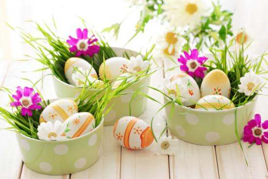 osterdeko ideen ostereier frühlingsblumen