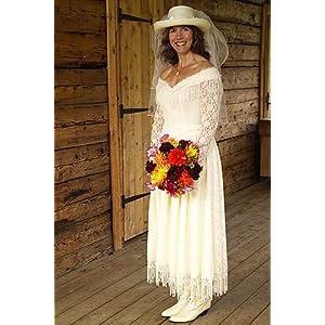 Drop Waist Western Wedding Dress