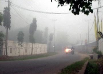 Kabut Asap Kepung Palembang