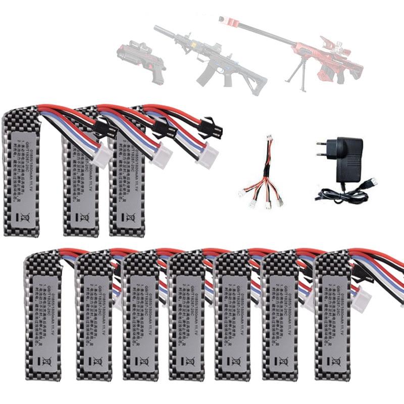 Luftgewehr Airsoft Lipo Batterie 11 1 V 1800 Mah Lipo Batterie Elektrische Wasser Pistole Lithium Batterie Spielzeug Pistole Zubehor Aliexpress