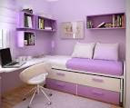 Teens Bedroom Picture: Purple Minimalist Furniture In Small Girls ...