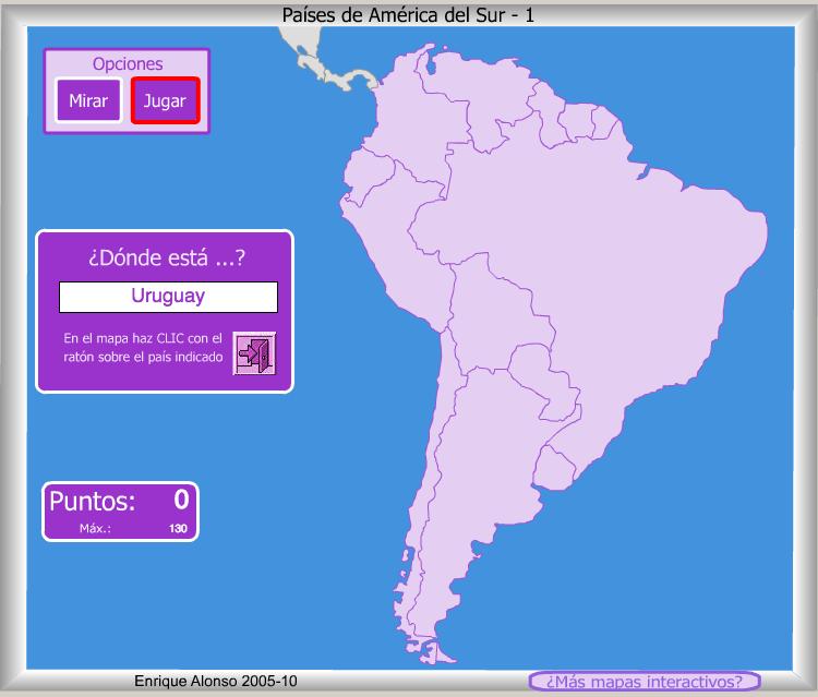 Mapa Interactivo America Capitales.Mapa Interactivo America Del Sur Mapa