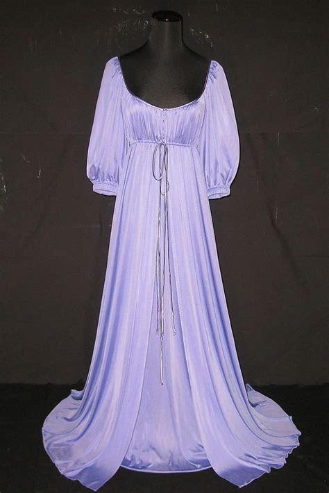 lucie ann lavender long elegant nightgown robe peignoir