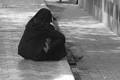 A Muslim Woman begs on the street by firoze shakir photographerno1