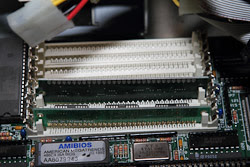 RAM Inside an Intel 486 Computer