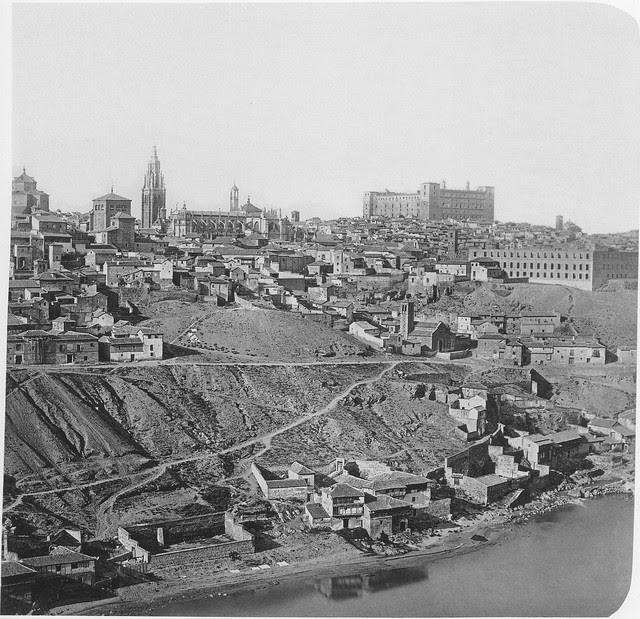 Toledo hacia 1857. Fotografía de Ferrier & Soulier