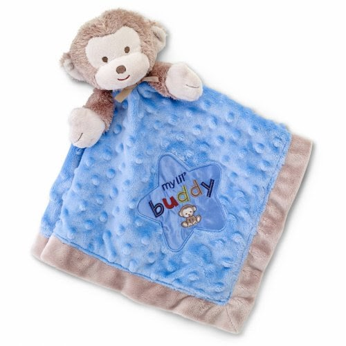 Monkey Blankets Okie Dokie Blue Monkey Snuggle Buddy