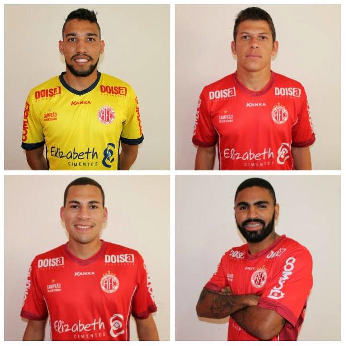 América-RN - reforços Rafael, Leomir, Pablo Oliveira e Romarinho (Foto: Assessoria de Comunicação/América-RN FC)