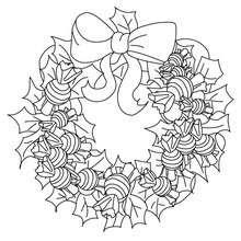 Coloriage De Couronnes De Noël 11 Coloriages De Noël