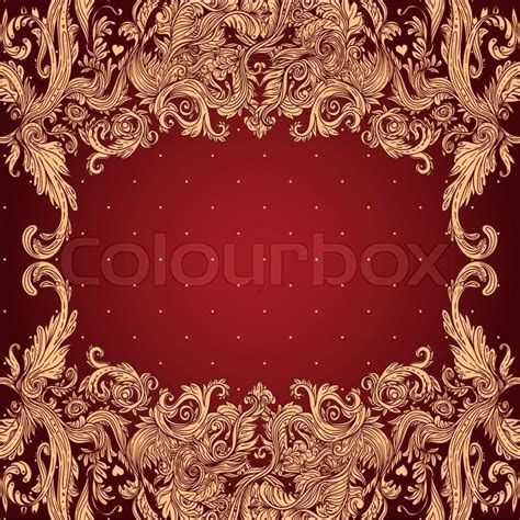 Vintage background ornate baroque pattern, vector