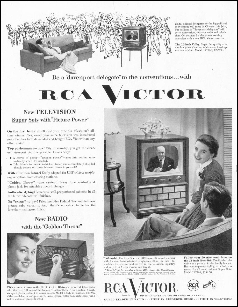 RCA VICTOR TELEVISION LIFE 06/16/1952 p. 32