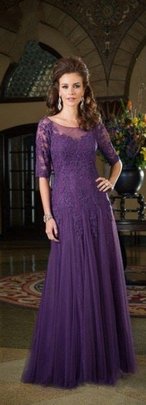 2015 New Fashion Half Sleeves Appliques Purple Mother of