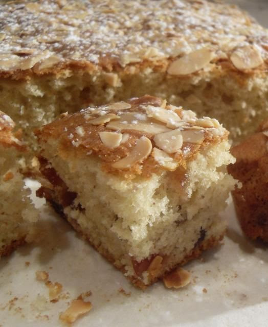 Cherry And Almond Tray Bake Cake