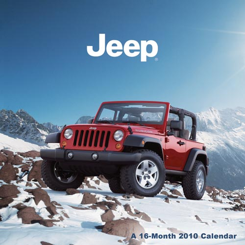 And the calendar tosses a photographic bone to a current Jeep Liberty,
