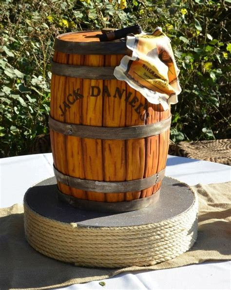 Our Jack Daniels Whiskey Barrel Cake made by The Cake Zone