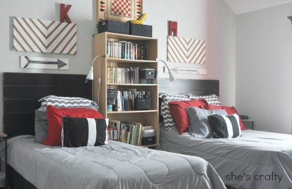 She S Crafty Boys Room Grey Red And Black