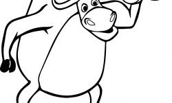 Halter Kaldıran Inek Boyama Sayfası