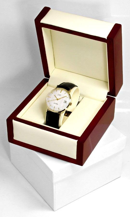 Foto 5, Herren-Armbanduhr, Gelbgold 14K Automatik Datum Sekunde, U1650