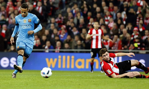 Athletic Bilbao 1-2 Barcelona: Neymar floors rivals as ...