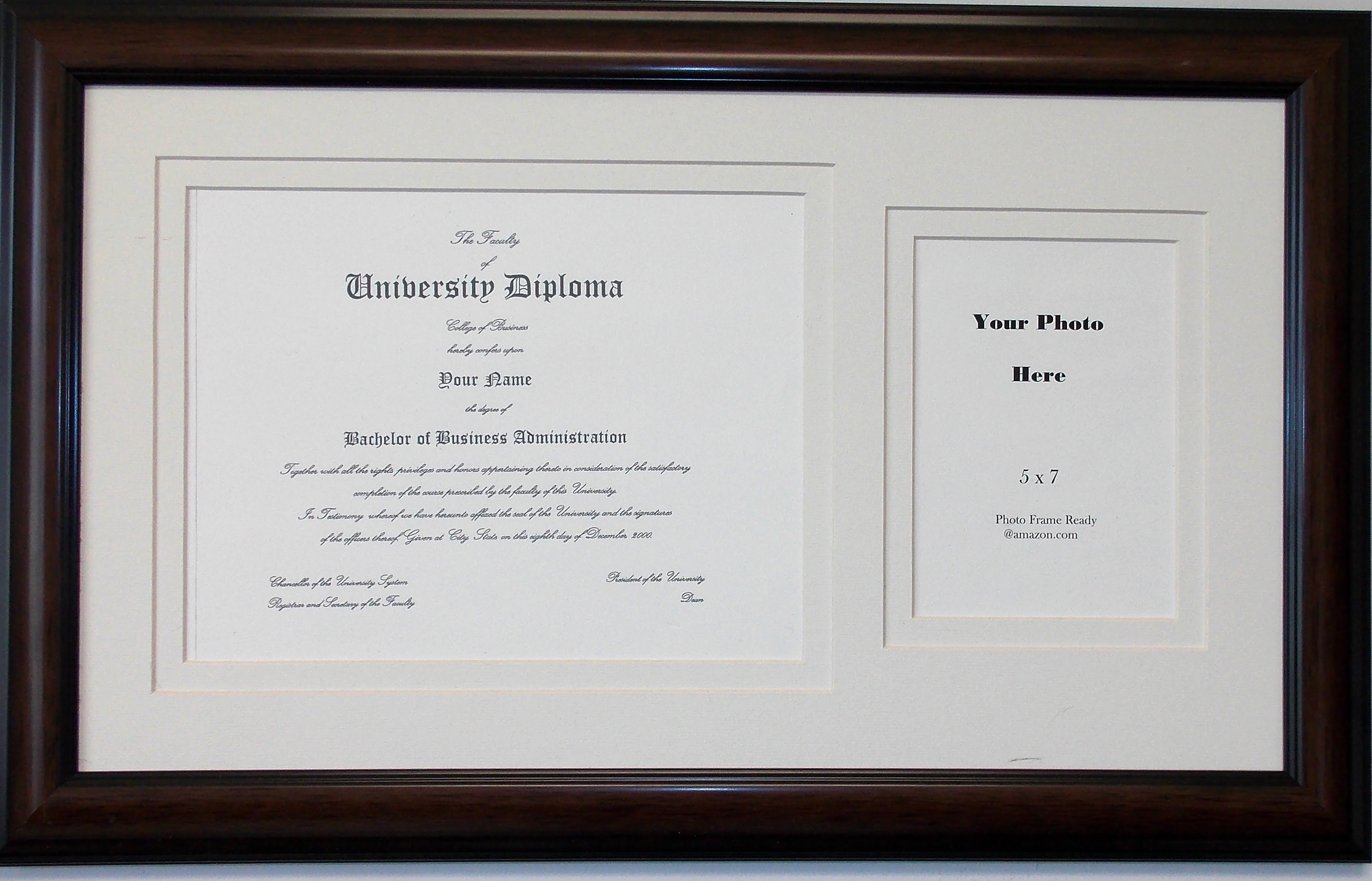 Graduation Certificate Matted 8 12 X 11 Photo Frame With 5 X 7