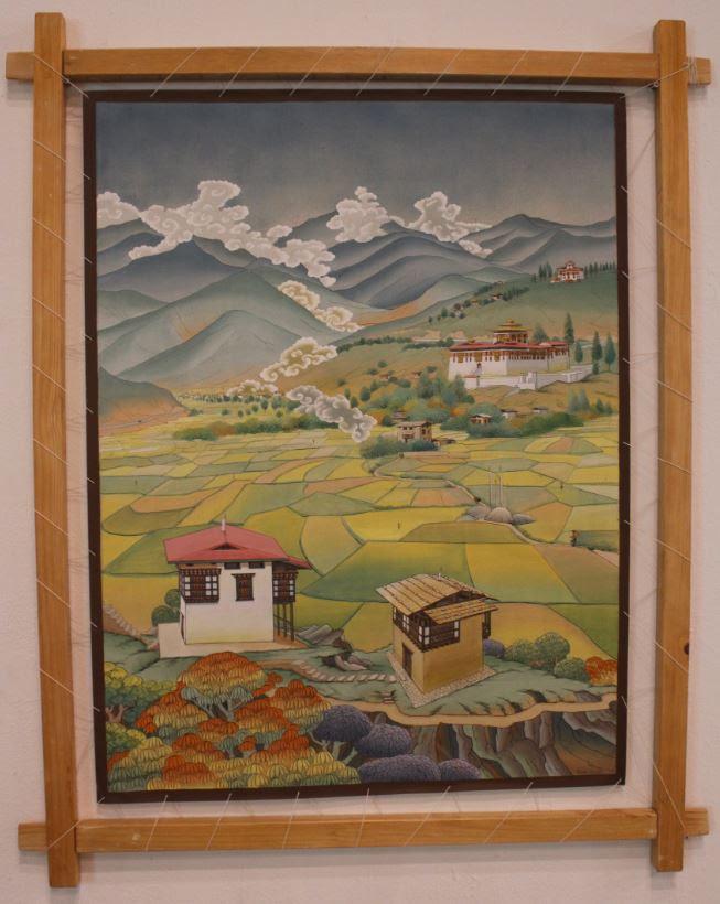 Paddy Field, by Rinchen Wangdi