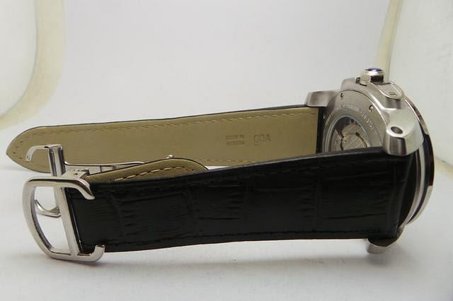 Cartier Calibre Black Leather Strap