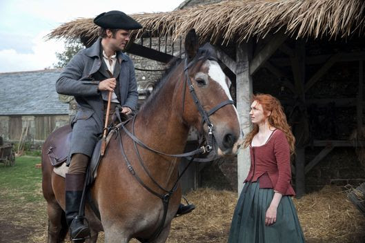 Poldark, Season 2MASTERPIECE on PBSEpisode SixSunday, November 6th at 9pm ET on PBSA fugitive points the way to riches. Ross and the free traders sail into a trap. Caroline and Dwight hatch a plan. Demelza faces house arrest.Shown from left to right: Luke Norris as Dwight Enys and Eleanor Tomlinson as DemelzaCourtesy of Mammoth Screen/BBC and MASTERPIECE