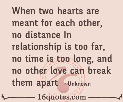 No Distance In Relationship Can Break Love