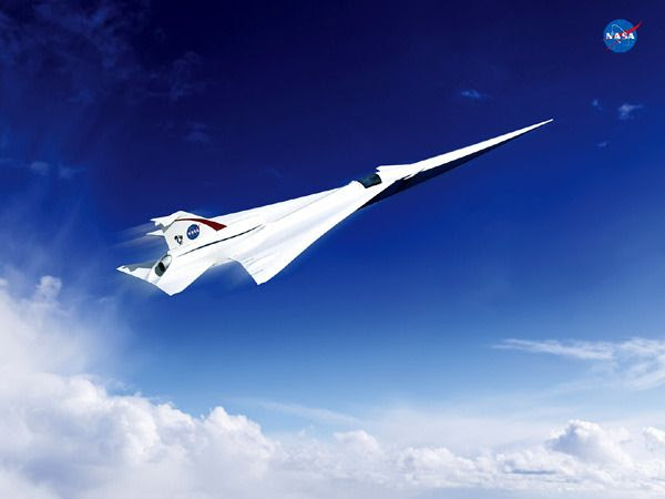 An artist's concept of an 'X-plane' being designed by Lockheed Martin for NASA.