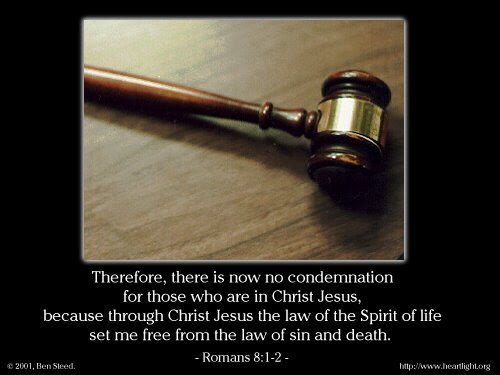 Inspirational illustration of Romans 8:1-2