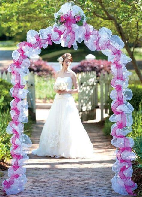 Deco Mesh Wedding   creative   Wedding, Wedding chair