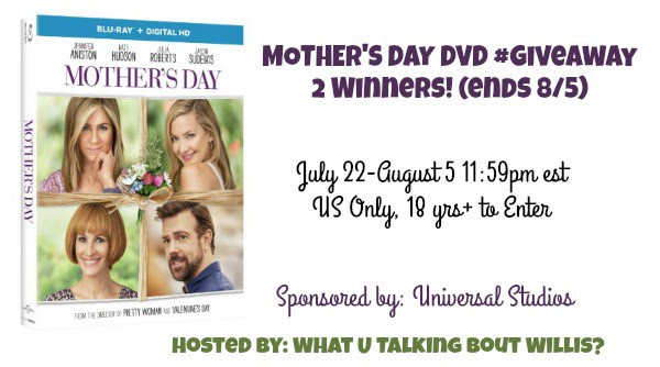Mother's Day DVD Giveaway 2 Winners. Ends 8/5