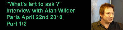 Part 1 of  the interview with Alan Wilder