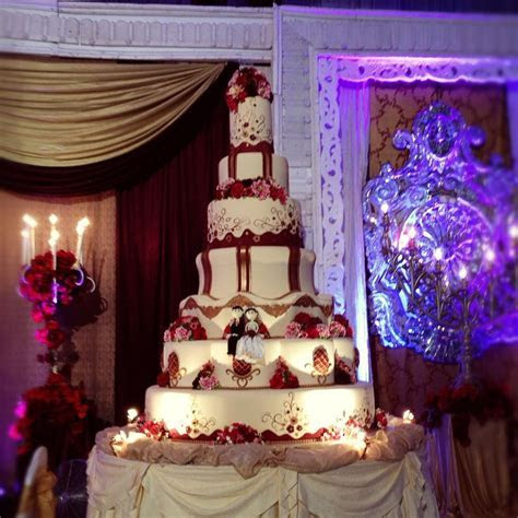 Burgundy gold wedding cake   My cake   Pinterest   Gold
