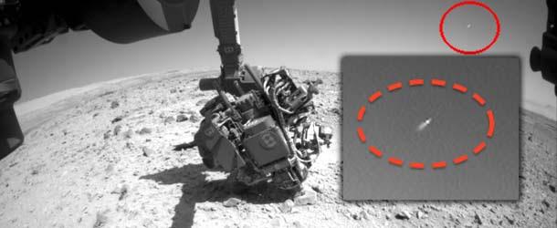 El rover Curiosity de la NASA fotografía un OVNI en Marte